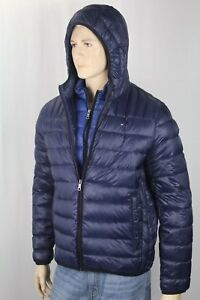 Tommy-Hilfiger-Navy-Blue-Packable-Hooded-Ultra-Loft-Ski-Puffer-Coat-NWT-195