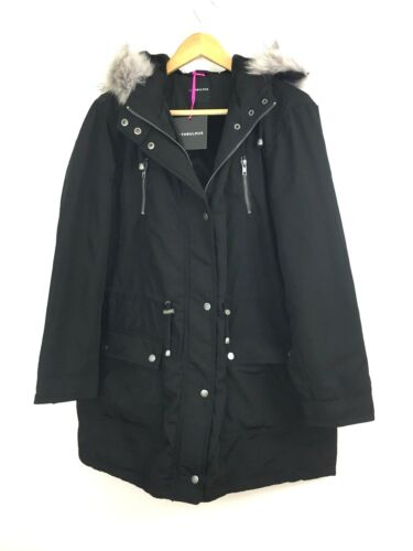 Very Padded 16 Ladies Size So Uk Parka By Hooded Black OYwx5zqw6