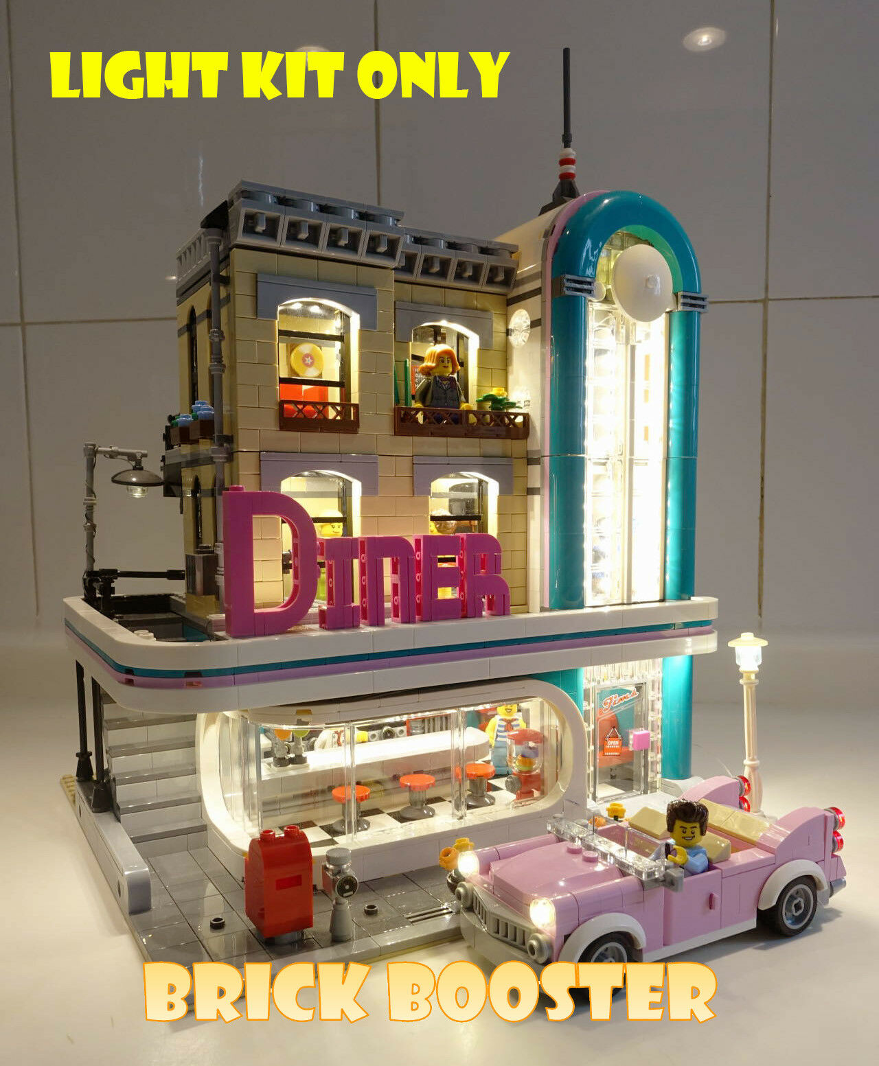 USB PoweROT LED Light Kit for Lego 10260 Downtown Diner