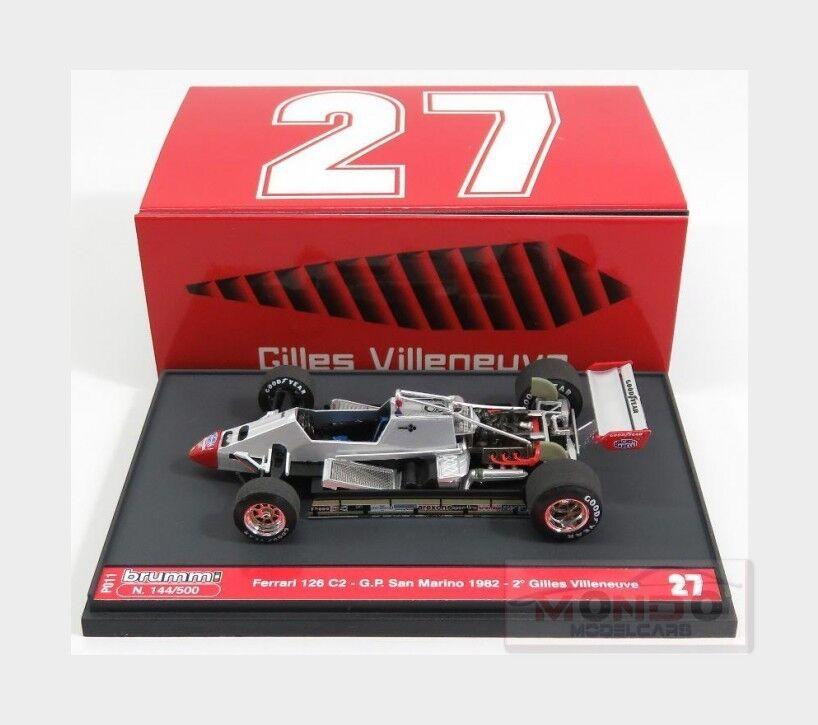 Ferrari F1 126C2  27 San Marino Imola Gp 1982 Gilles Villeneuve BRUMM 1 43 P011