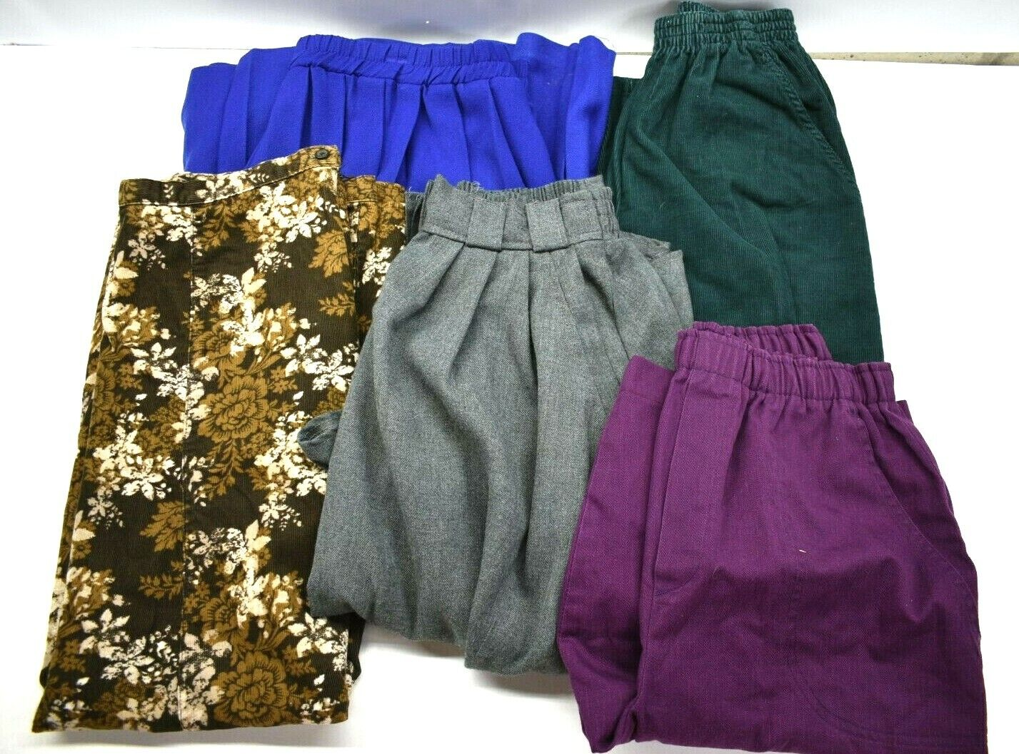 Lot of 5 Cabin Creek Croft Barrow Women's Size 8 Spring Casual Pants Skirts