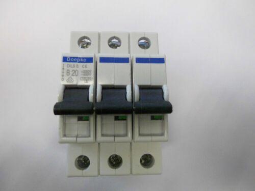 Doepke DLS5 B20 3-polig Leitungsschutzschalter Neu