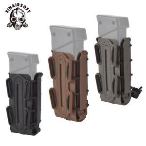 Tactical-9mm-Scorpion-Soft-Shell-Pistol-Magazine-Pouch-Carrier-Tall-W-Belt-Loop