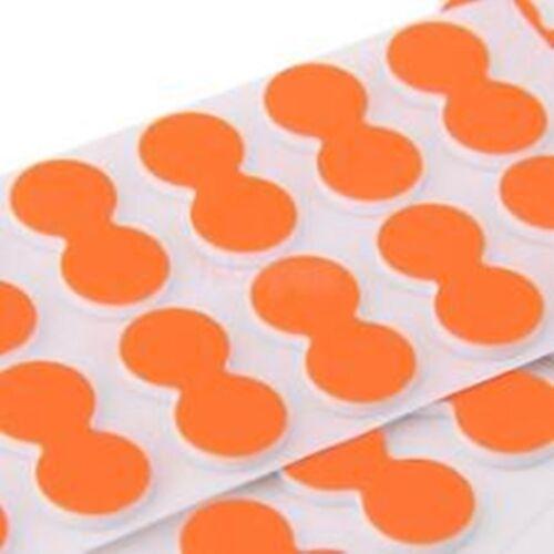 Orange Collant Strike indicateurs 2 bandes 1 Pack