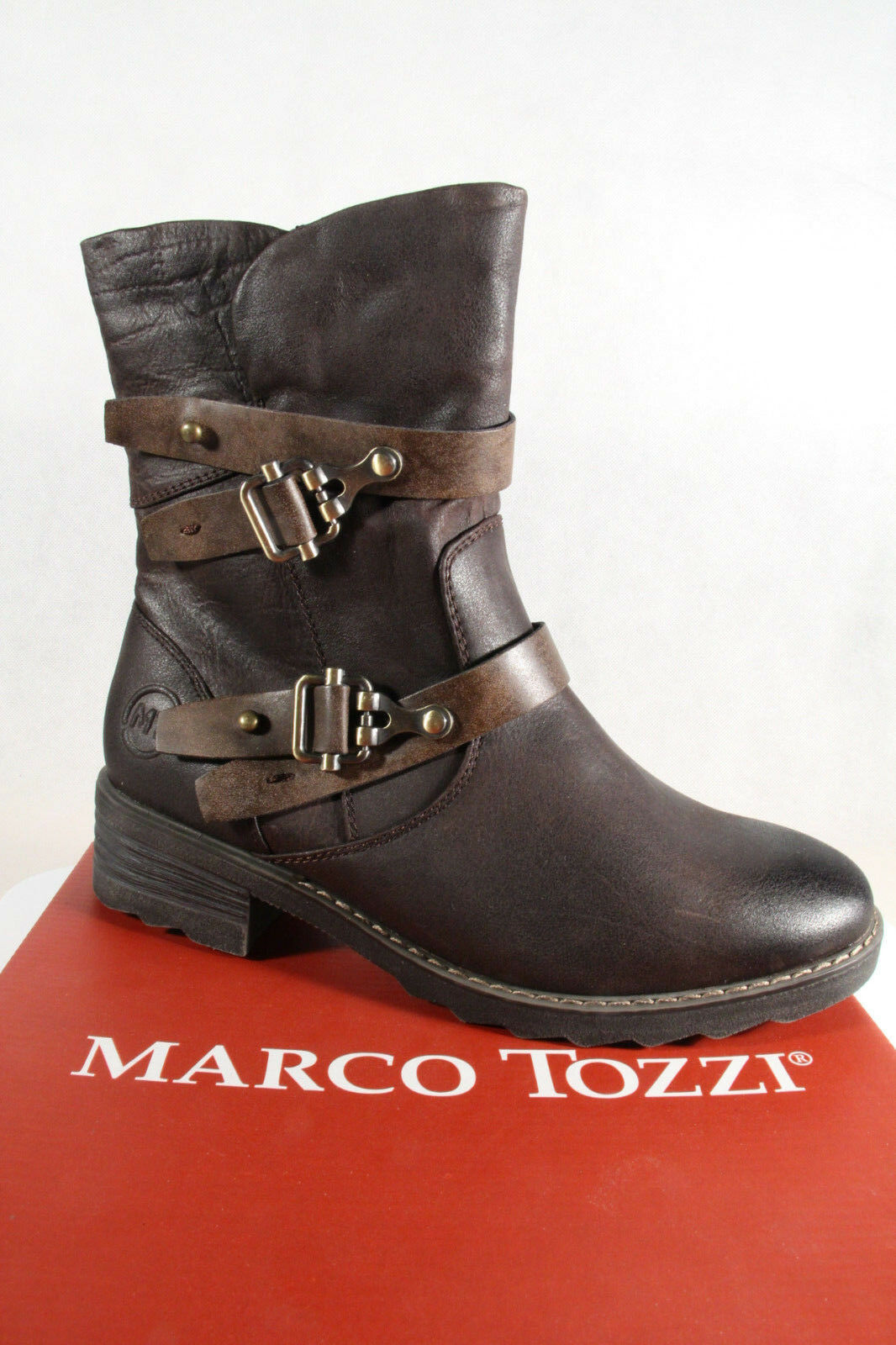 Marco Tozzi Botas, Botines, marrón, Cálido Forrado, RV 26432 NUEVO
