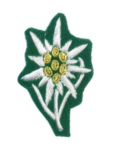 German Army edelweiss cap Badge enlisted man FOR CAP