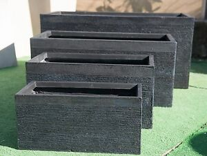 Outdoor-Garden-Patio-Planter-Pot-Rectangle-Large-Trough-Benson-Washed-Black