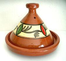 Plat a tajine tagine Marocain cuisson terre cuite émaillé 30 cm 5/6 personnes h