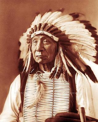 DAKOTA INDIAN CHIEF RED CLOUD VINTAGE PHOTO NATIVE AMERICAN  c1880  #20995