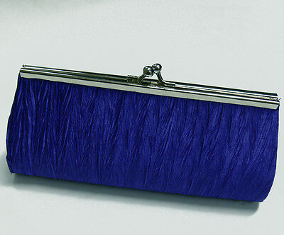 New Satin Pleated Wedding/Bridal/Evening Clutch Bag Purse Assorted Colors