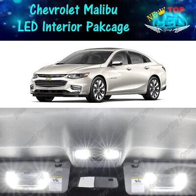 6 PCS LED Lights For 2013-2016 2017 Chevrolet Malibu Kit Interior Package WHITE