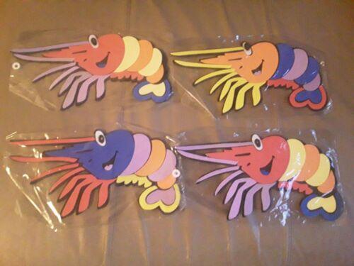 shrimp Mirror Foam Bath Toy Xmas *Sticks To Bath When Wet *Stocking Filler uk