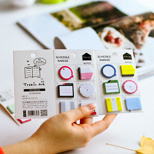 schedule maker self adhesive memo pad sticky notes bookmark school