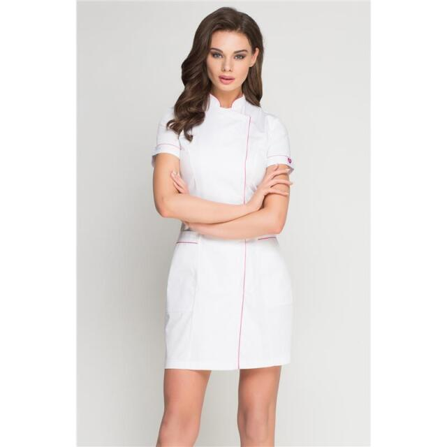 Lorren dress beauty long tunic massage spa health work for Spa uniform white