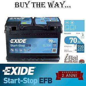 BATTERIA-EXIDE-START-STOP-EL700-720-EN-VOLVO-S60-II-D5