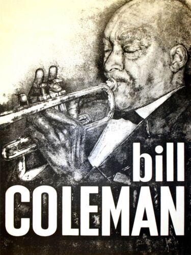 PAINTING PORTRAIT BILL COLEMAN TRUMPET AMERICAN JAZZ MUSICIAN POSTER LV2687