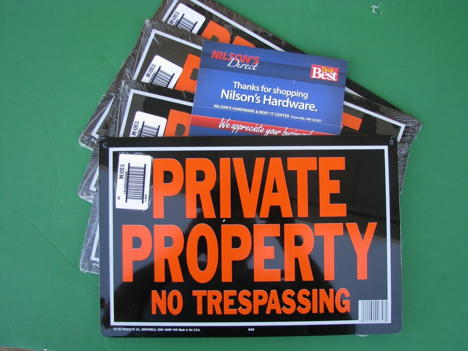 60 Pk Hy-Ko 10x14 Aluminum Private Property No Trespassing Sign Rust Free 848