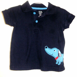 c2734aee0b51 CARTER S baby boys polo style shirt top size 3-6 months 6 mo DOG ...