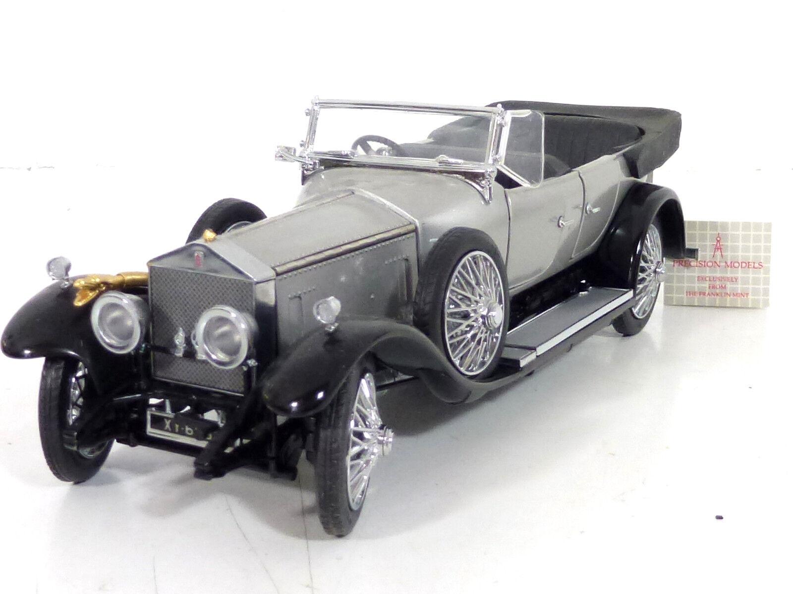 Franklin Mint Rolls Royce Silver Ghost 1925 Model Car 1 24 Blank Top