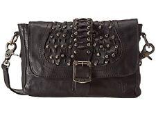 New with Tags FRYE Diana Stud Cross-Body Handbag Black Tumbled Full Grain $ 328