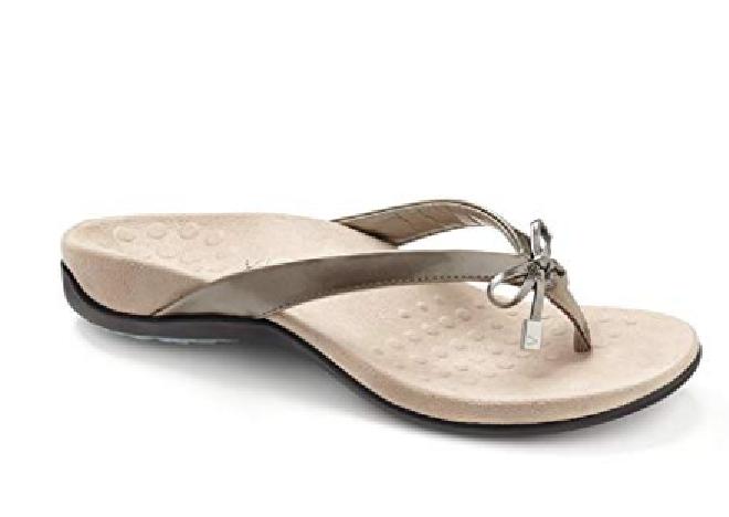 Vionic Women's 44BELLAII Toepost Sandal PEWTER Choose Choose Choose Size Free Shipping NIB 861eea