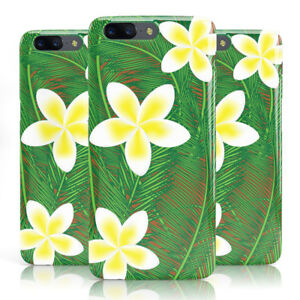 Impresion-floral-exotica-dyefor-Amarillo-Marron-Funda-de-telefono-para-oneplus
