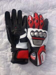 DUCATI-Motorbike-Leather-Glove-XS-S-M-L-XL-2XL