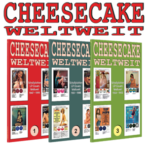 Lot-3-X-Libro-Cheesecake-en-todo-el-mundo-discos-LP-covers-vollfarb-Guide
