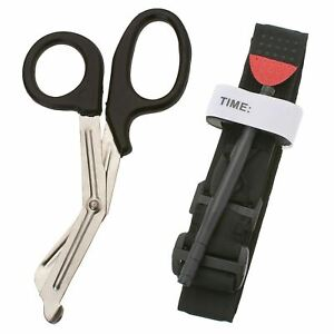 One Hand Tourniquet Combat Application First Aid Handed + Free Trauma Shear
