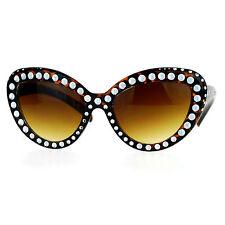 Womens Fashion Sunglasses Oversized Cateye Butterfly Full Frame Bling Tortoise