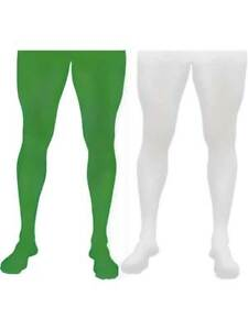 MENS Christmas Green Tights Fancy Dress Robin Hood Peter Pan Panto Costume