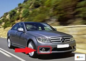 MERCEDES-BENZ-MB-W204-C-CLASS-08-10-OEM-AMG-STYLE-FRONT-RIGHT-OS-FOG-LIGHT-GRILL
