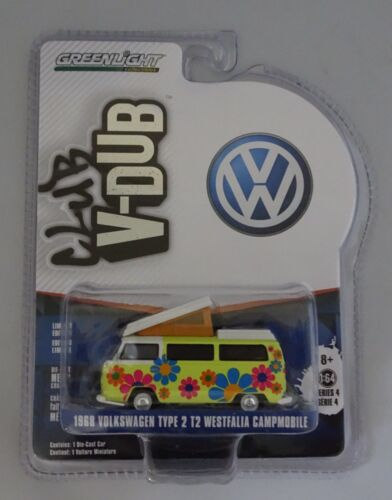 Greenlight 1:64 1968 VOLKSWAGEN TIPO 2 T2 Westfalia Campmobile V-DUB CLUB