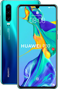 Huawei-P30-128GB-6GB-RAM-Dual-Sim-Aurora-Blue-New-Miscellaneous