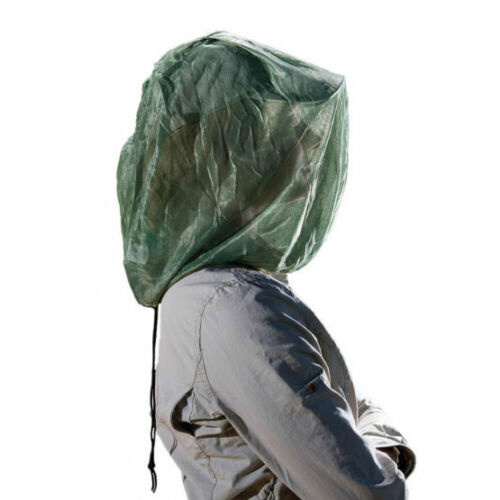 Care Plus Green Non Treated Fine Mesh Classic Head Net Travel Midges Insects