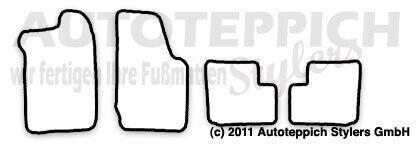 Fußmatten meliert für Opel Kadett D Bj 1979-1985