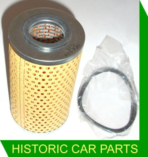 Paper Oil Filter Element /& Seal for TRIUMPH TR3 TR3A TR3B 1991cc 2138cc 1955-62
