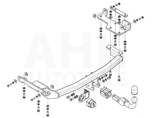 Anhängerkupplung abnehmbar+E-Satz 7p Für Nissan Murano Z50 04-08 Kpl.