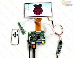 HDMI-VGA-2AV-LCD-driver-board-7inch-AT070TN94-Lcd-Touch-Remote-For-Raspberry-Pi