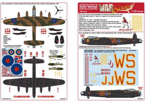 "Nouveau kits monde decals 48102 1:48 Avro Lancaster B I//III Johnny Walker /""encore Goi"