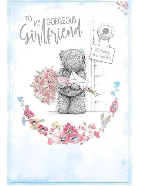 ME TO YOU MY GORGEOUS GIRLFRIEND BIRTHDAY CARD TATTY TEDDY BEAR NEW