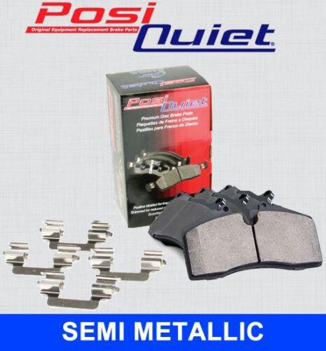 104.09270 + Hardware Kit FRONT SET Posi Quiet Semi Metallic Brake Disc Pads