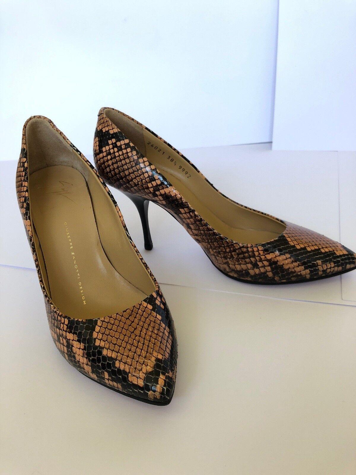 Giuseppe zanotti snake skin pumps shoes heels 38.5 New