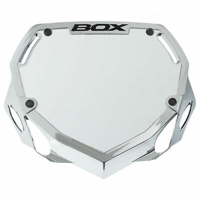 Box Phase 1 BMX Bike Bicycle Number Plate Large Black Chrome