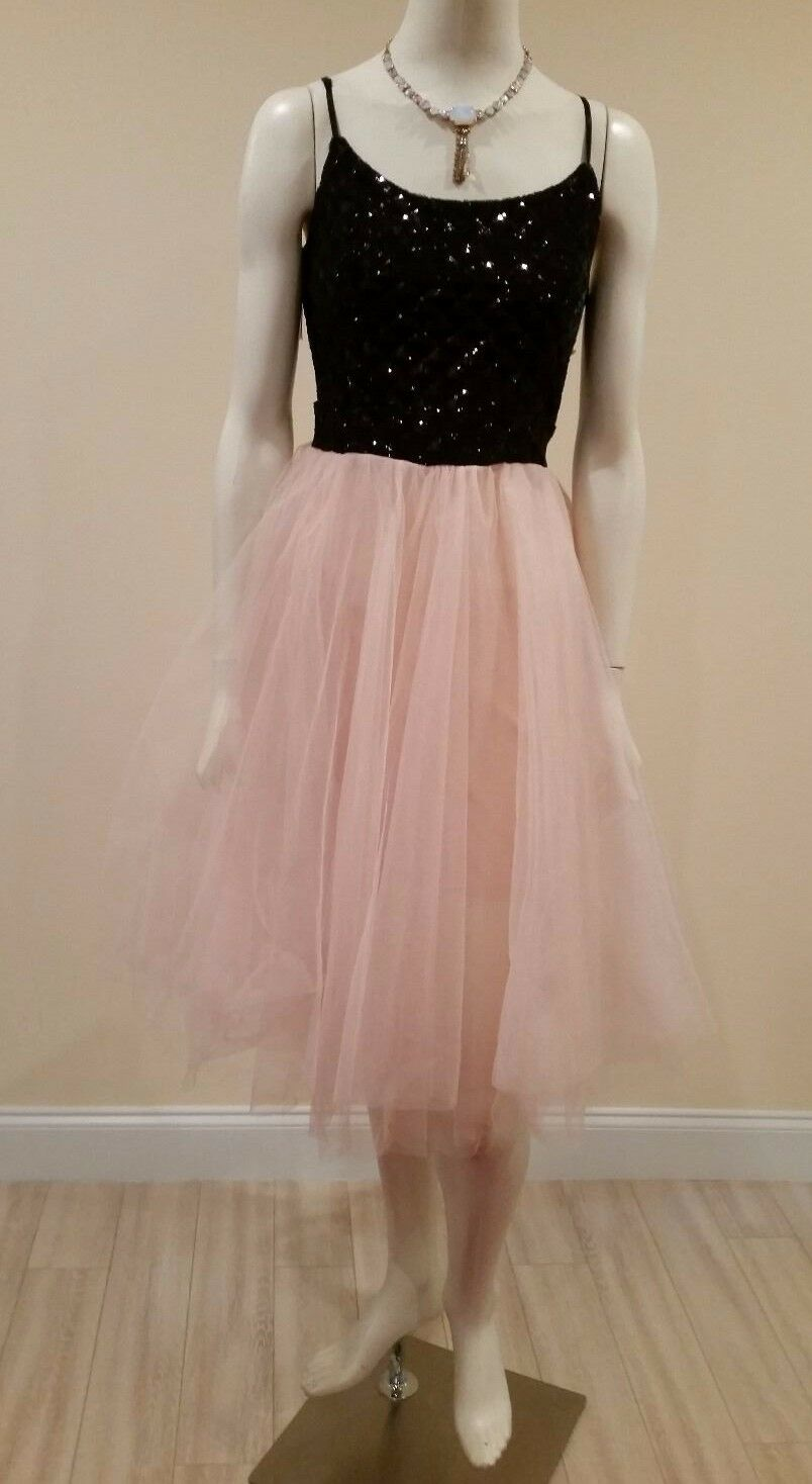 Beautiful Trixxy pink tulle tutu skirt /black sequin prom/girl dress ...