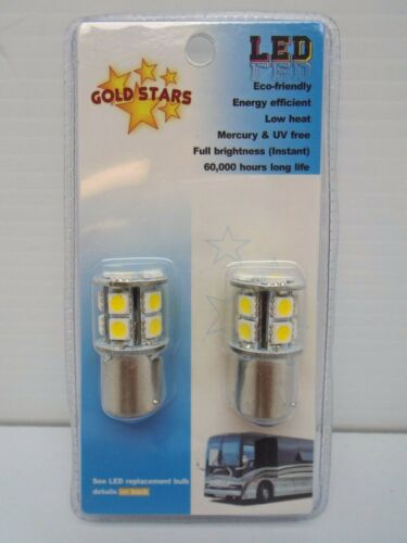 #11568301 148C Gold Stars Natural White LED Replacement Bulbs 1156//1003//1141