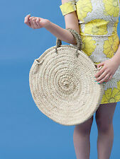 Large Round French Market Beach Basket Tote Shopper Florence Holiday Bag Storage