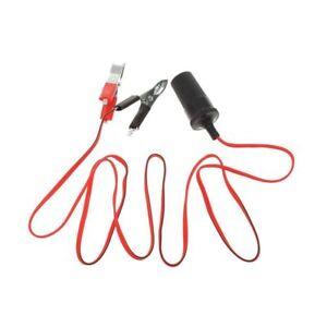 12V-Auto-KFZ-Batterieklemme-Clips-Steckdose-Zigarettenanzuender-Adapter-Buchs-BS