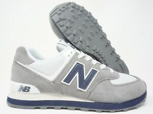 New Balance 574 Classic Mens Running Shoes Grey White Blue Multi ... f303134dd88