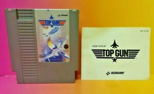 Top-Gun-With-Manual-Nintendo-NES-Game-Rare-Tested-Works-Great-Authentic